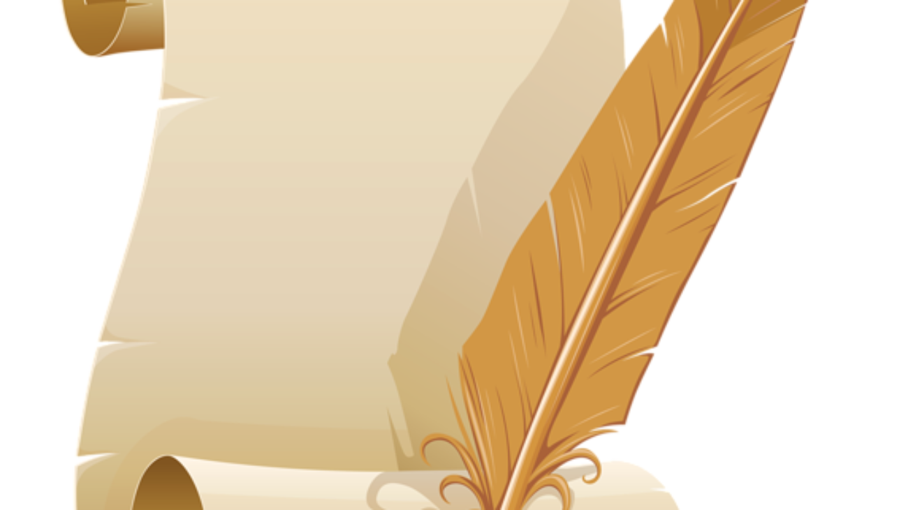 scroll and quill clipart